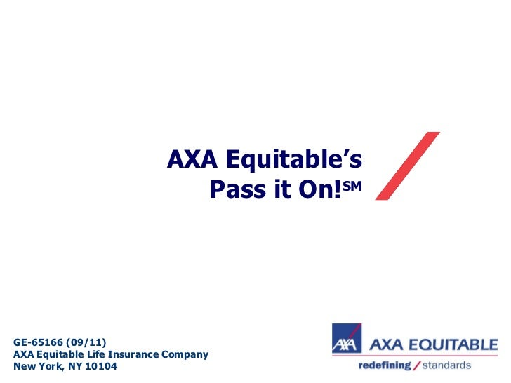 AXA Equitable's  Pass it On! SM