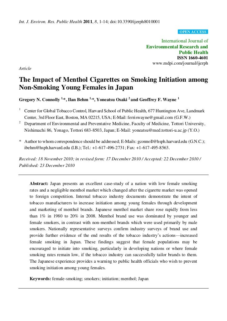 Connolly japan menthol