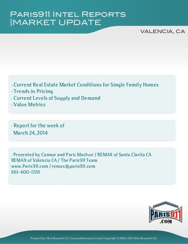 Valencia CA real estate and market update 2014-083