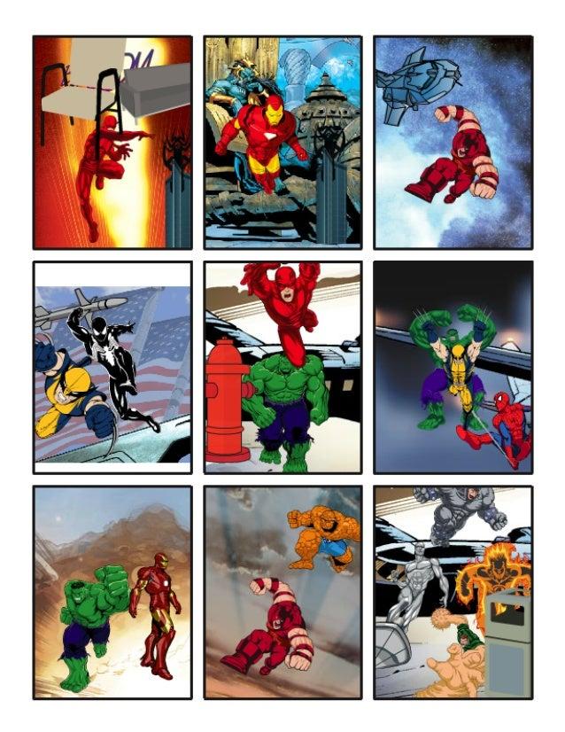 My 6 Year Olds Mini Marvel Comic Strip. :)