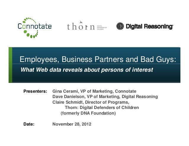 Employees, Business Partners and Bad Guys: What Web Data Reveals About Persons of Interest