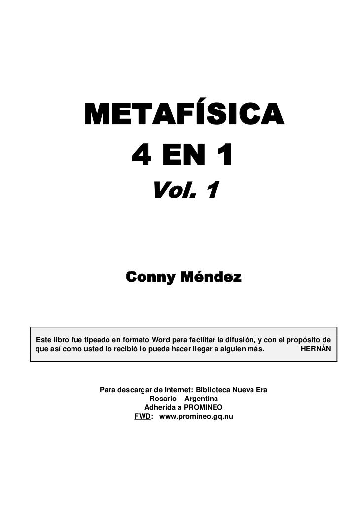 Conny mendez   metafisica 4 en 1 vol 1 y 2