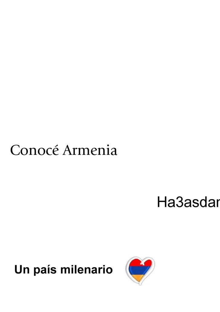Conocé Armenia Un país milenario Ha3asdan