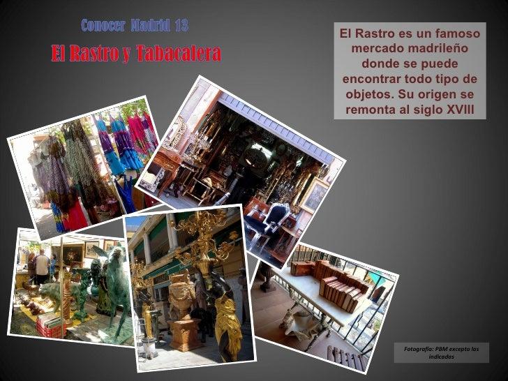 Conocer Madrid 13 - el Rastro y Tabacalera
