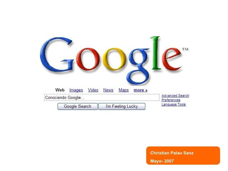Conociendo a Google