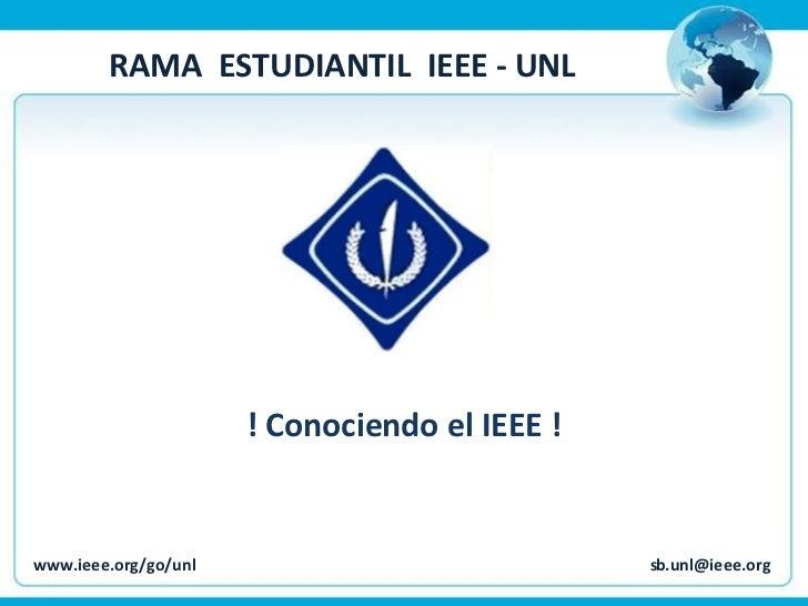 Conociendo el IEEE