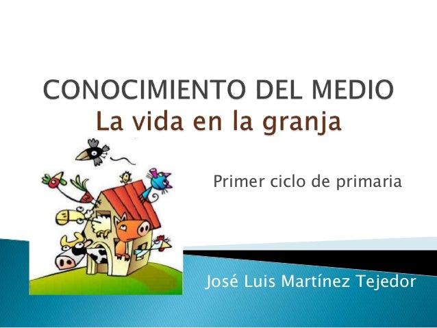 José Luis Martínez Tejedor Primer ciclo de primaria