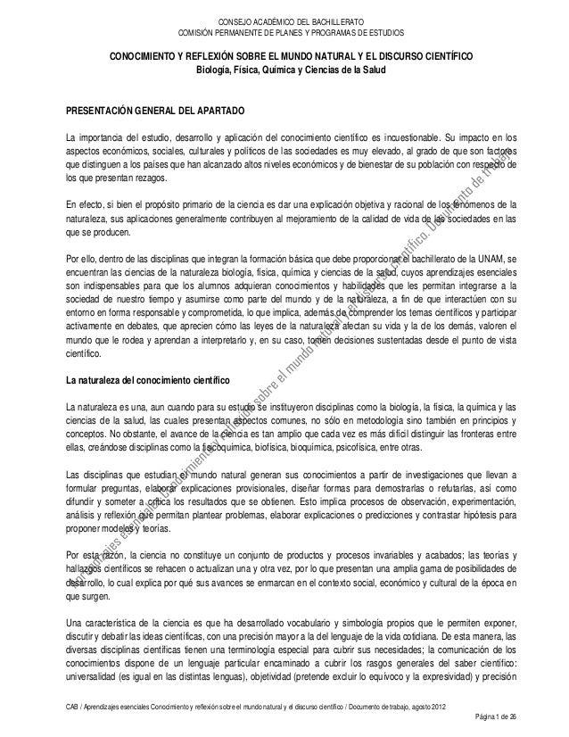 CONSEJO ACADÉMICO DEL BACHILLERATO                                        COMISIÓN PERMANENTE DE PLANES Y PROGRAMAS DE EST...