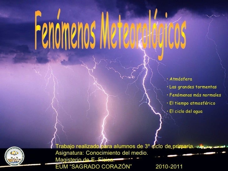 • Atmósfera                                           • Las grandes tormentas                                           • ...