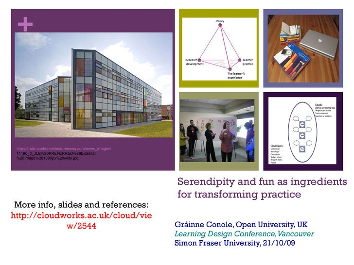 Serendipity and fun as ingredients  for transforming practice Gráinne Conole, Open University, UK Learning Design Conferen...