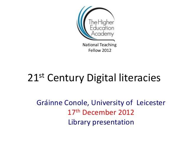 Conole digital literacies