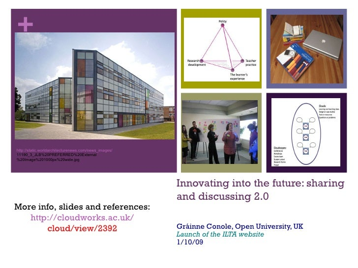 Innovating into the future: sharing and discussing 2.0  Gráinne Conole, Open University, UK Launch of the ILTA website 1/1...