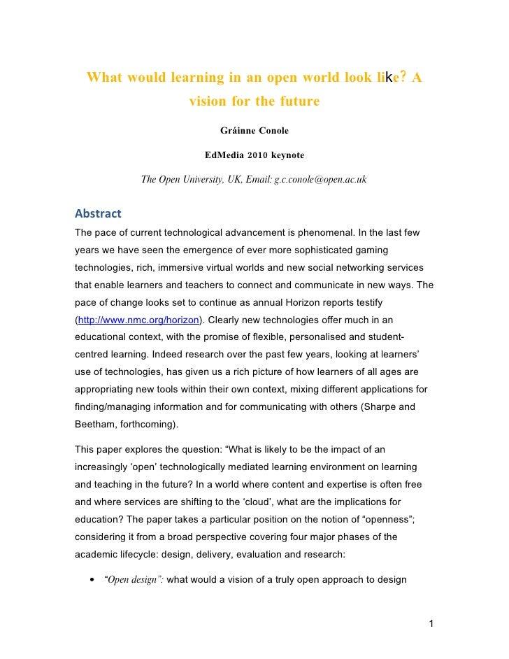 Conole keynote edmedia