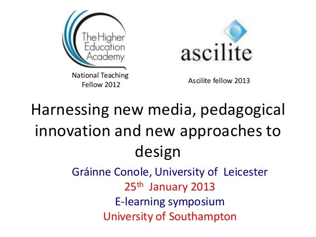 National Teaching       Fellow 2012          Ascilite fellow 2013Harnessing new media, pedagogicalinnovation and new appro...