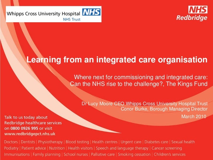 Conor Burke & Lucy Moore: Learning from an integrated care organisation