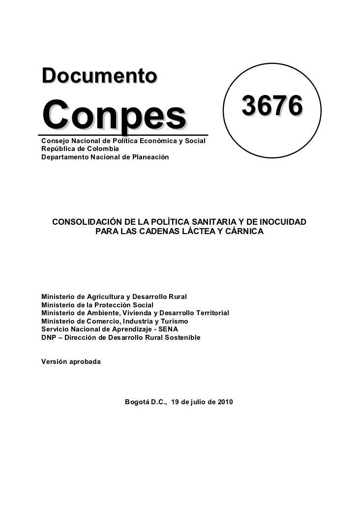 DocumentoConpes                                                      3676Consejo Nacional de Política Económica y SocialRe...