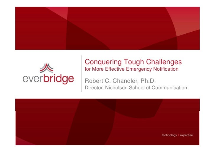 Conquering Tough Challenges for More Effective Emergency Notification