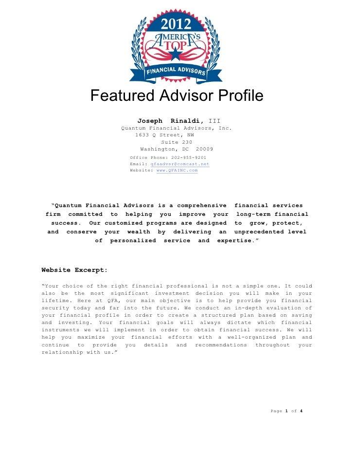 """America's Top Financial Advisors"""