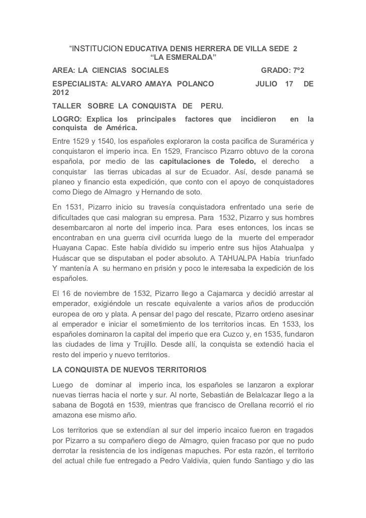 """""""INSTITUCION EDUCATIVA DENIS HERRERA DE VILLA SEDE 2                              """"LA ESMERALDA""""AREA: LA CIENCIAS SOCIALES..."""