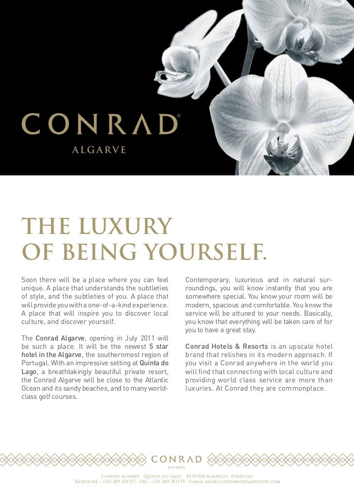 Conrad Algarve - Fact Sheet