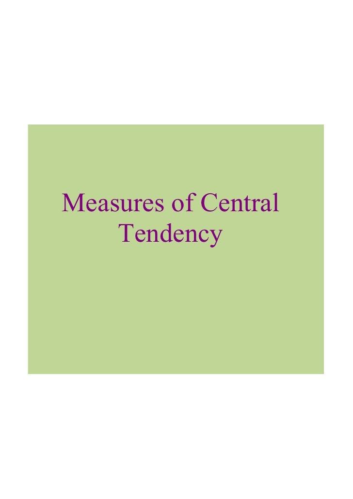 MeasuresofCentral     Tendency