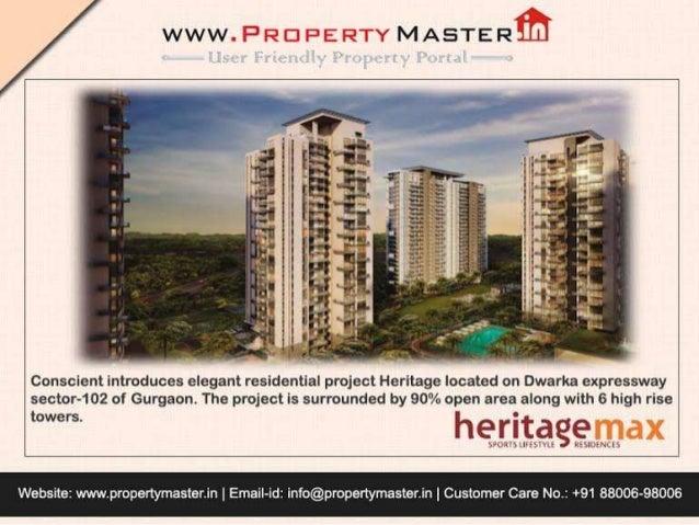 Conscient Heritage Max @ 8800698006 Gurgaon