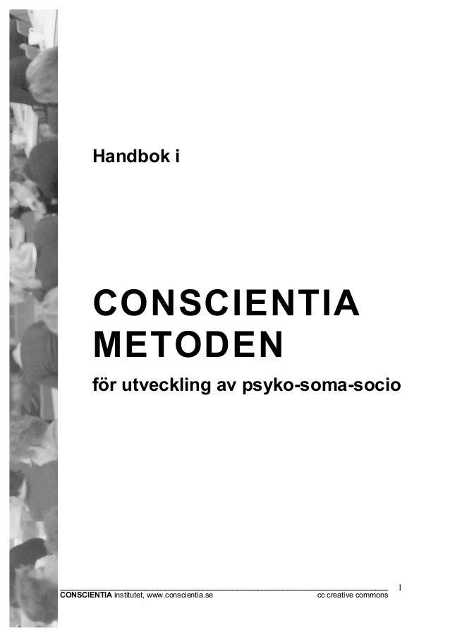 Handbok i CONSCIENTIA METODEN