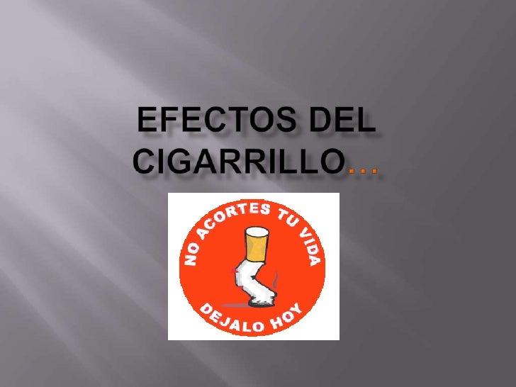 Consecuencias del  cigarrillo