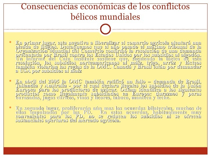 Consecuencias EconóMicas De Los Conflictos BéLicos Mundiales