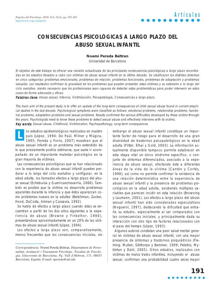 Papeles del Psicólogo, 2010. Vol. 31(2), pp. 191-201                                                                Artícu...