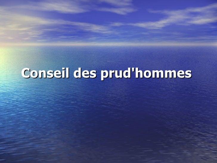 Conseil des prudhommes