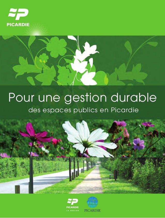 Pour une gestion durable des espaces publics en Picardie