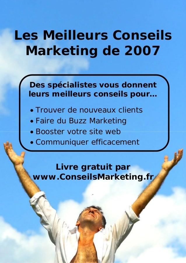 Les meilleurs conseils marketing pour 2007 - www.conseilsmarketing.fr - version 1.01Les Meilleurs Conseils Marketing de 20...