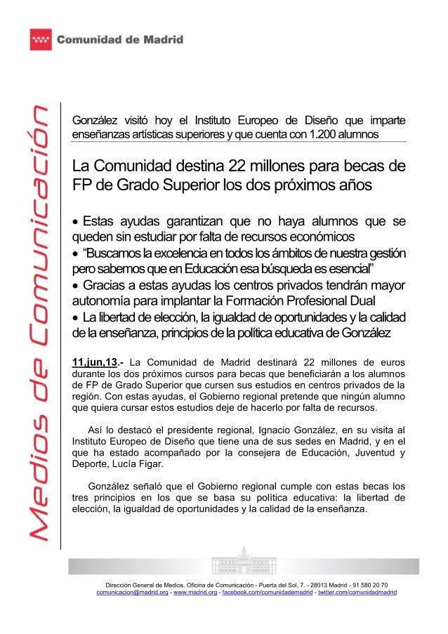Consejería de educación 11.06.13