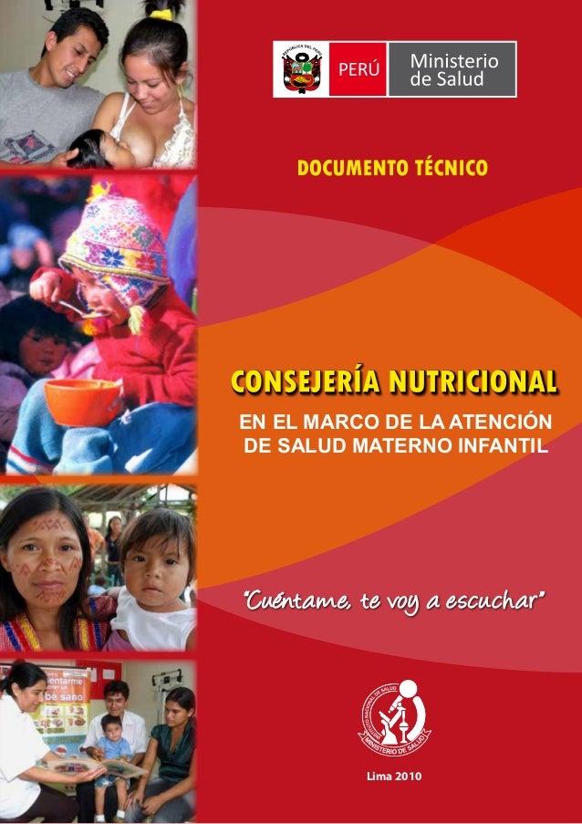 Lima 2010 EN EL MARCO DE LA ATENCIÓN DE SALUD MATERNO INFANTIL