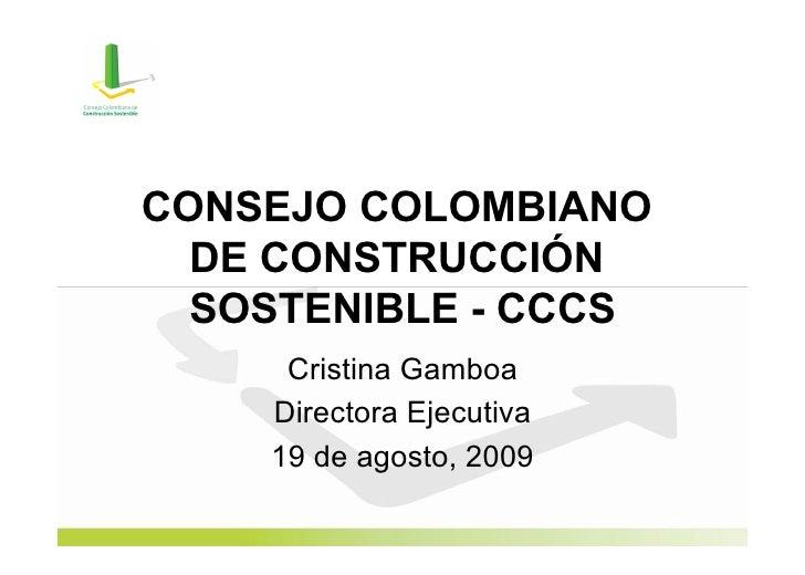 Negocios Verdes - Presentación Consejo Colombiano de Construcción Sostenible