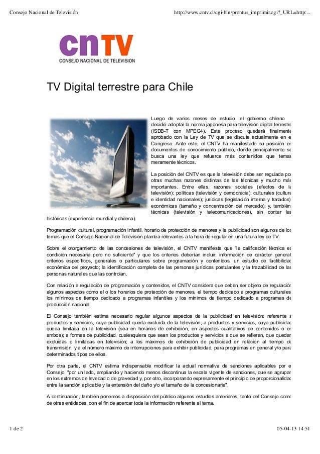 Consejo nacional de televisióndigital