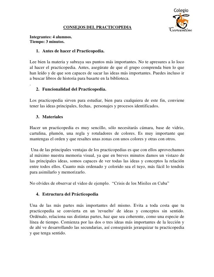 Consejos del practicopedia