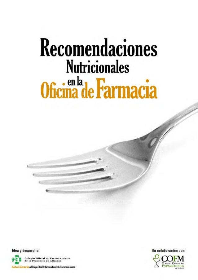 Consejos nutricionales en patologias