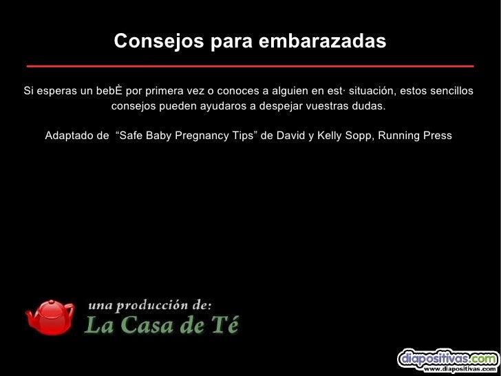 Consejos Para Embarazadas Diapositivas