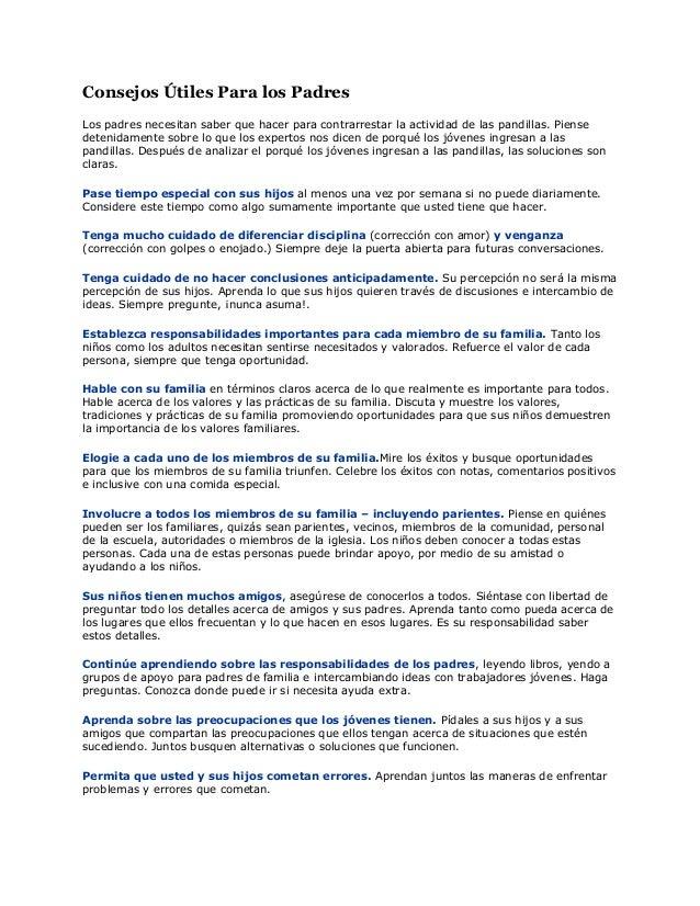 Consejos útiles para los padres (1)