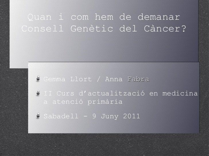 Consell Genètic