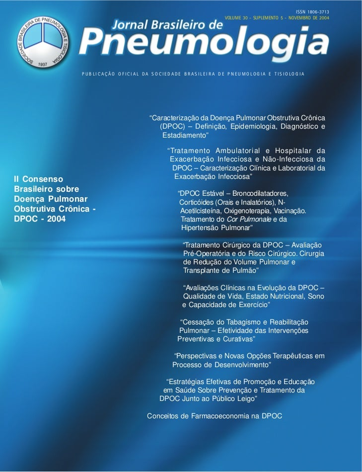 ISSN 1806-3713                                                             VOLUME 30 - SUPLEMENTO 5 - NOVEMBRO DE 2004    ...