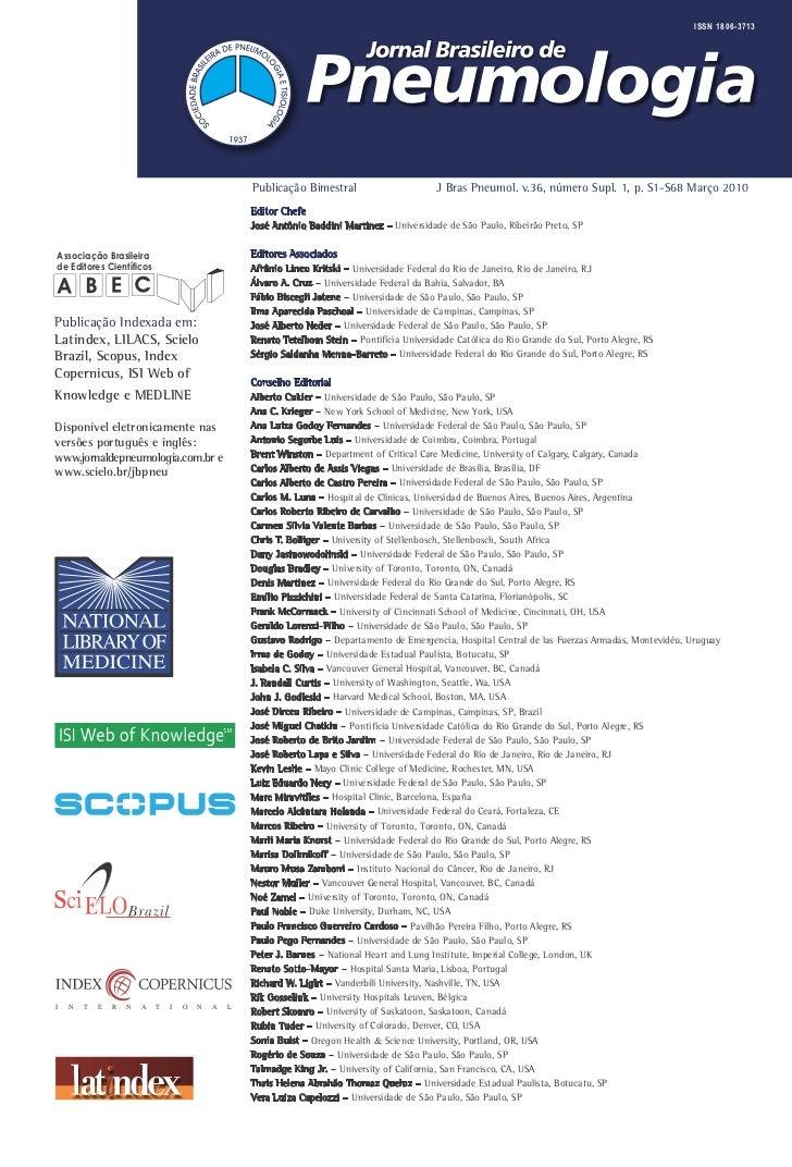 ISSN 1806-3713                                                    Publicação Bimestral                       J Bras Pneumo...
