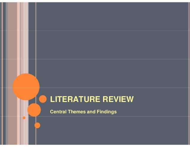 Master thesis proposal literature