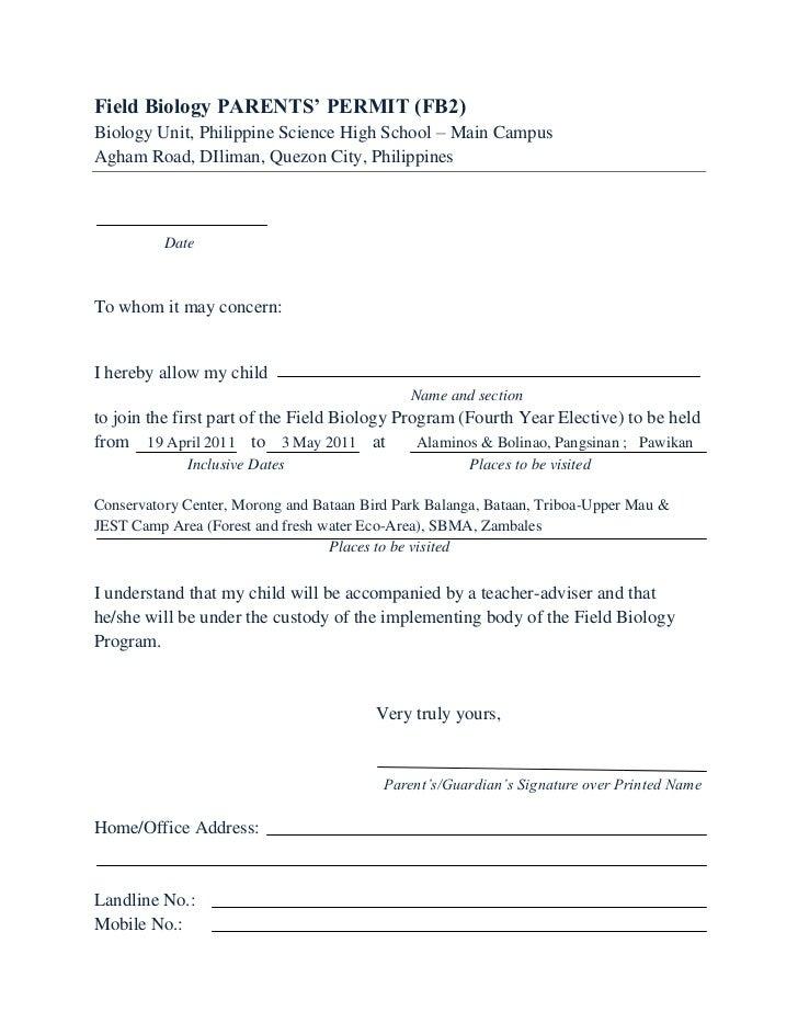 Consent form fb 10