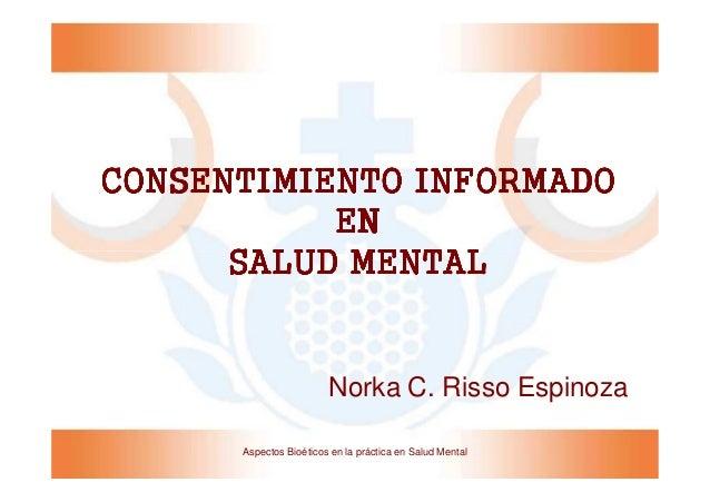 Consentimiento Informado en Salud Mental