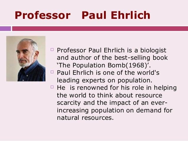 Paul R. Ehrlich: Population Bomb Theory