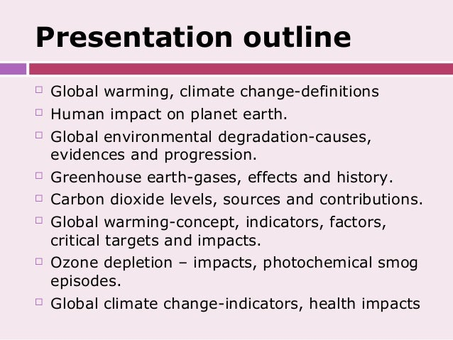 Global climate change essay