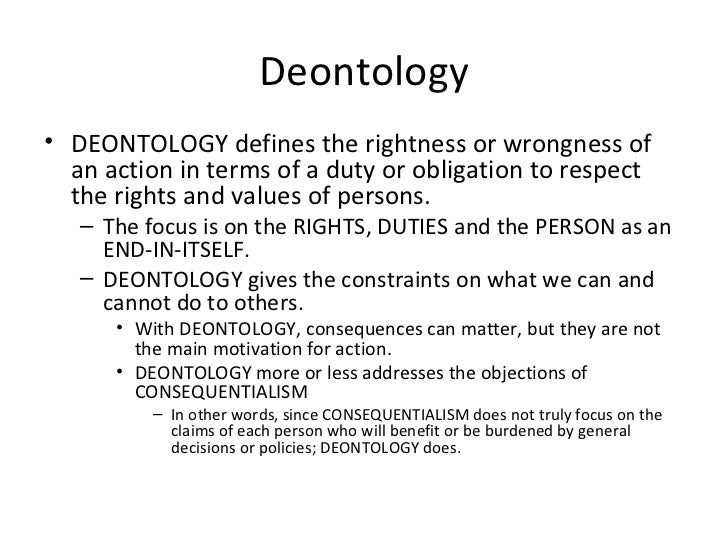 the difference between teleological and deontological Deontology and teleology are two specialist terms used to separate ethical theories they difference between deontology and teleology, is in essence, the same as the difference between.